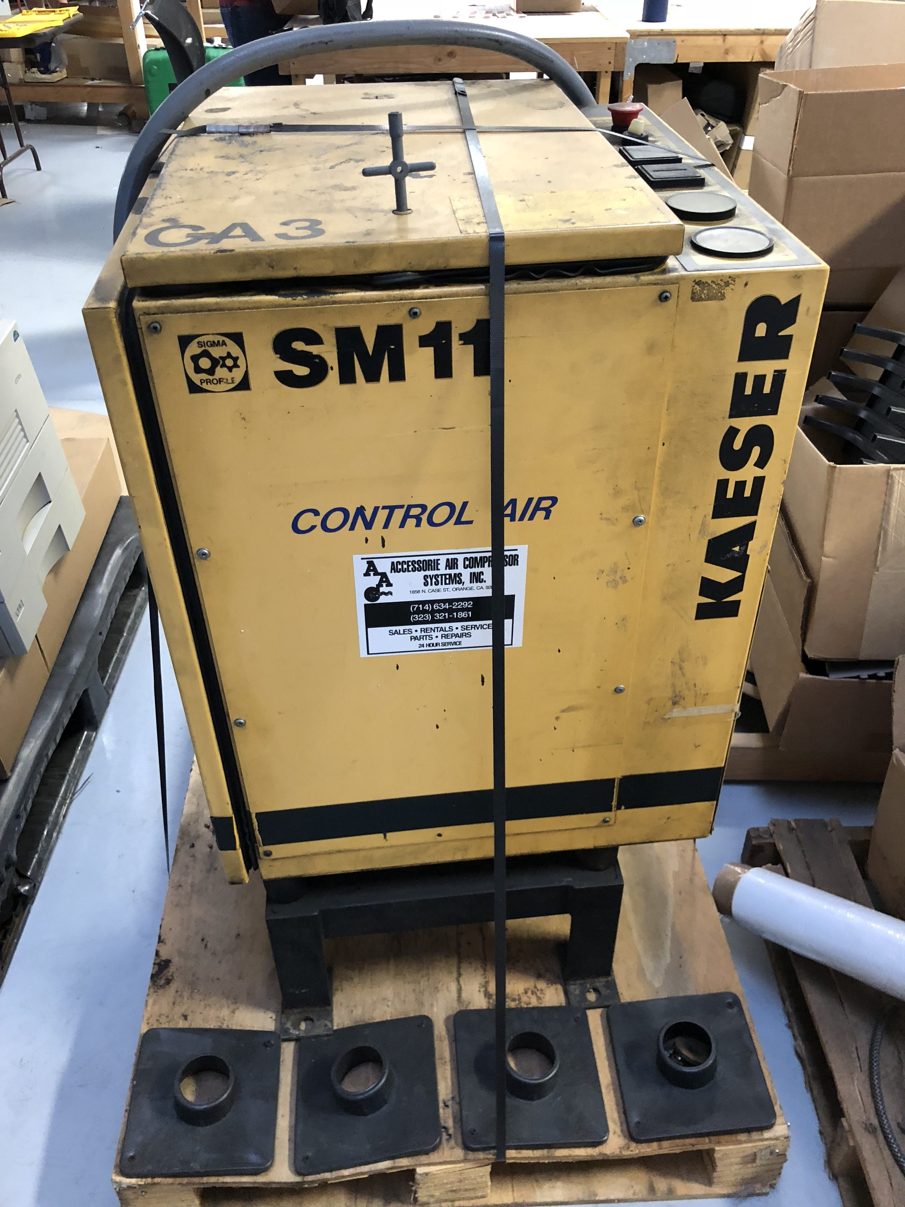 Kaeser Sm11 Air Compressor Digital Equipment Brokers