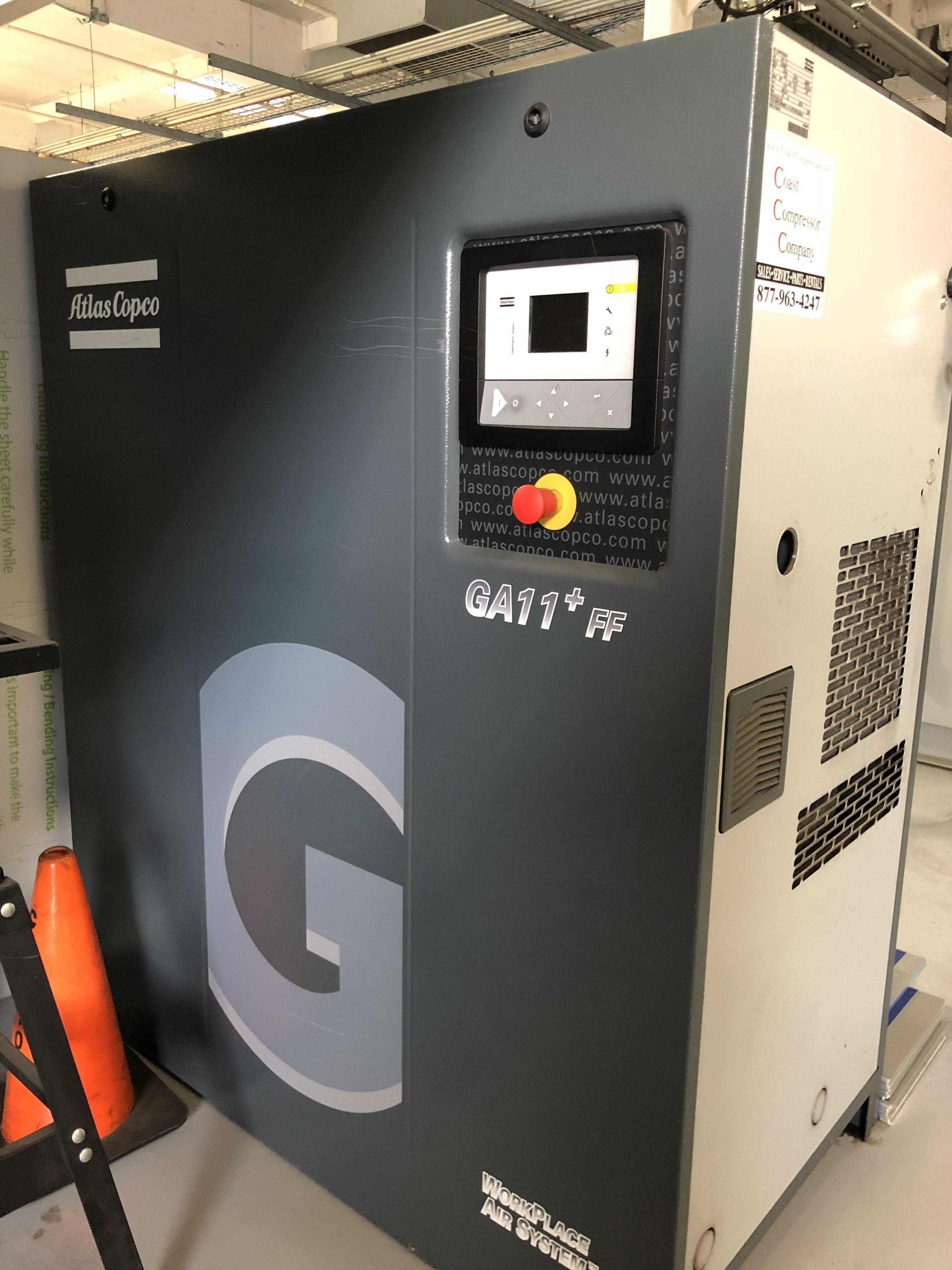 ATLAS COPCO GA11+FF 15HP AIR COMPRESSOR - Digital Equipment
